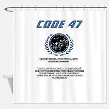 code 47 Shower Curtain