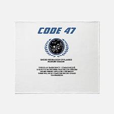 code 47 Throw Blanket