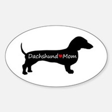 Dachshund Mom Sticker (Oval)
