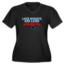 Wobble effect Women's Plus Size V-Neck Dark T-Shir