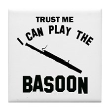 Cool Basoon designs Tile Coaster
