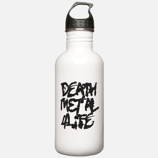 Death Metal 4 Life Water Bottle