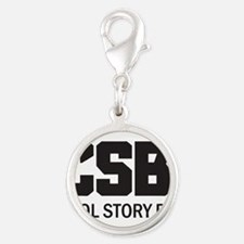 CSB: Cool Story Bro Silver Round Charm
