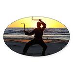 Karate Sickles Sticker (Oval)
