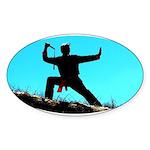 Nunchucks Sticker (Oval)