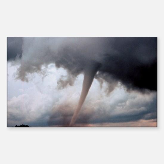 Tornado Fury Rectangle Decal
