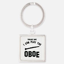 Cool Oboe designs Square Keychain