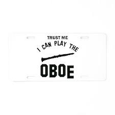 Cool Oboe designs Aluminum License Plate