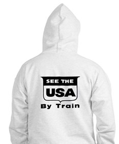 See The USA By Train ! Hoodie