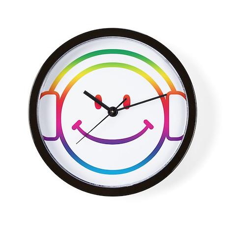 Smiley DJ Wall Clock
