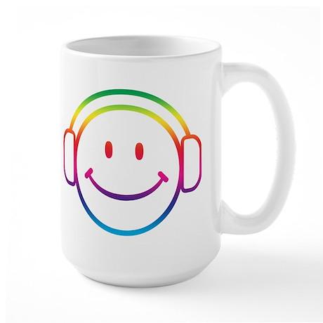 Smiley DJ Large Mug