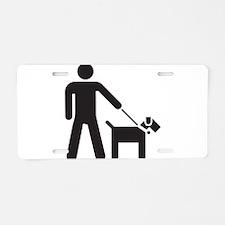 Walking the Dog Aluminum License Plate