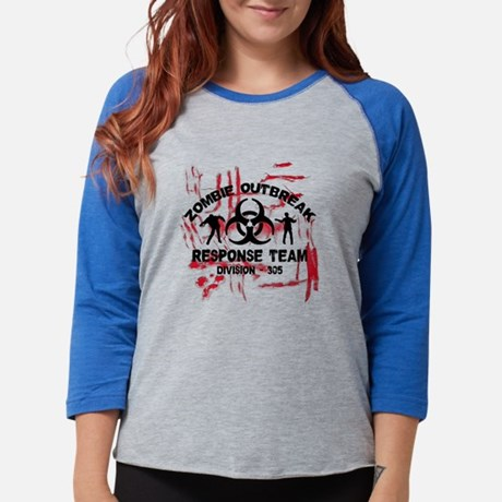 Zombie Response Team Womens Baseball Tee