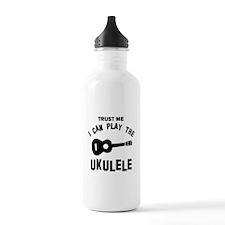 Cool Ukulele designs Water Bottle