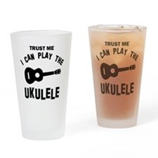 Cool Ukulele designs Drinking Glass