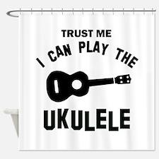 Cool Ukulele designs Shower Curtain