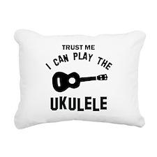 Cool Ukulele designs Rectangular Canvas Pillow