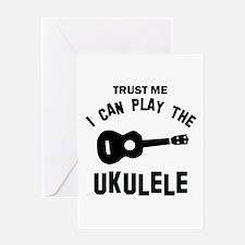 Cool Ukulele designs Greeting Card