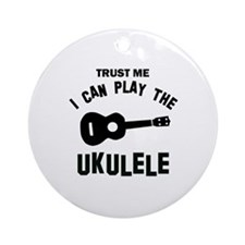 Cool Ukulele designs Ornament (Round)