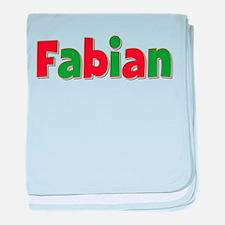 Fabian Christmas baby blanket