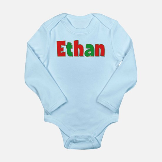 Ethan Christmas Long Sleeve Infant Bodysuit