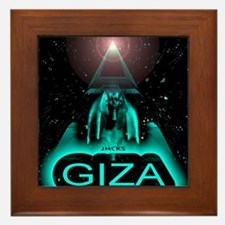 giza sphinx egypt art illustration Framed Tile