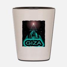 giza sphinx egypt art illustration Shot Glass