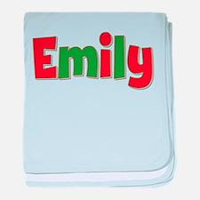 Emily Christmas baby blanket