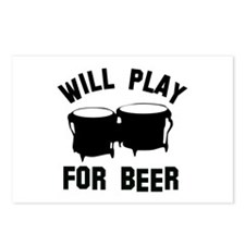 Will play the Bongo for beer Postcards (Package of