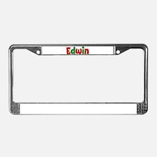 Edwin Christmas License Plate Frame