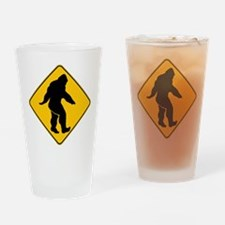 Bigfoot crossing Drinking Glass