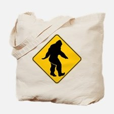 Bigfoot crossing Tote Bag