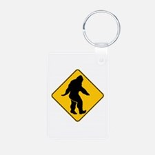 Bigfoot crossing Keychains