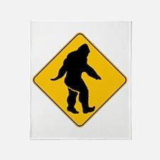 Bigfoot crossing Throw Blanket