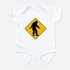 Bigfoot crossing Infant Bodysuit