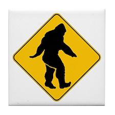 Bigfoot crossing Tile Coaster