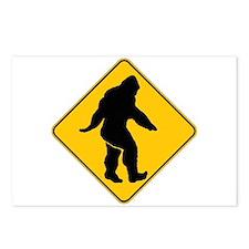 Bigfoot crossing Postcards (Package of 8)