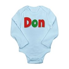Don Christmas Long Sleeve Infant Bodysuit