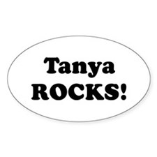 Tanya Rocks! Oval Decal