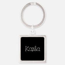 Karla Spark Square Keychain