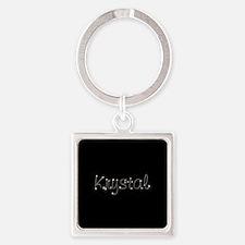 Krystal Spark Square Keychain