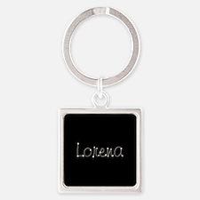 Lorena Spark Square Keychain