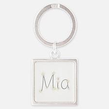 Mia Spark Square Keychain