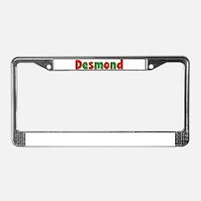 Desmond Christmas License Plate Frame