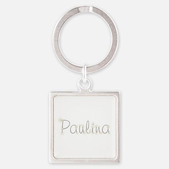 Paulina Spark Square Keychain