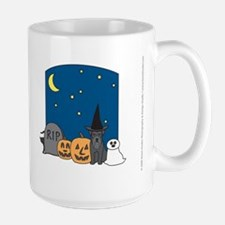 Black Miniature Schnauzer Halloween Mug