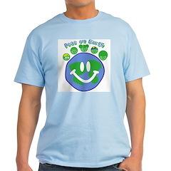 Peas On Earth Blue T-Shirt