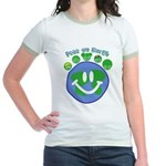 Peas On Earth Jr. Ringer T-Shirt