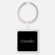 Samantha Spark Square Keychain