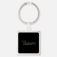 Theresa Spark Square Keychain